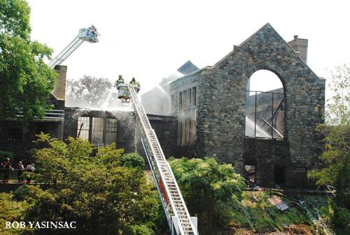 Hudson Valley Ruins: Hackley School Fire, Tarrytown, NY ...